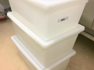(3) Large white totes