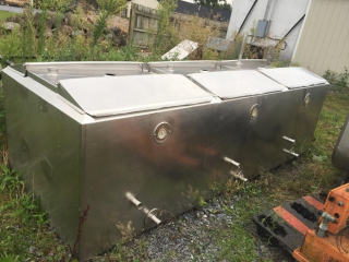 3 Section mixing tank 150 gallon