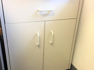 One drawer- two door cabinet