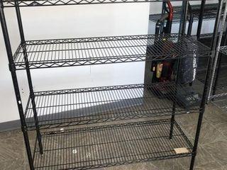 4 tier black metro rack