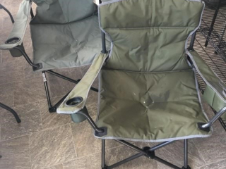 Pair of Uline folding camp chairs