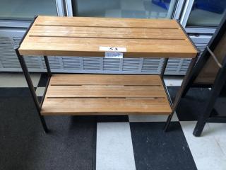 Small 2 rack shelf