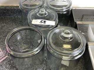 Lot of 5 Jars (4 lids)