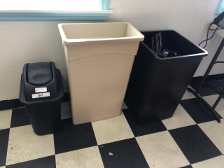 Trash can lot
