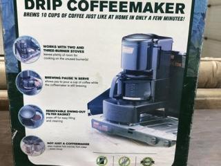 Unused Coleman Drip Coffee Maker UNRESERVED