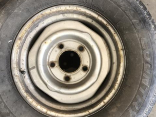 Tires With Rims 235/75R15, Small Tire 6.00512 UNRESERVED