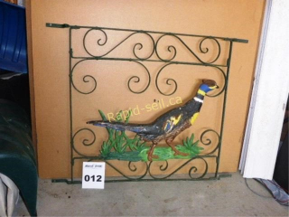 Decorative Screen Door Cover with Pheasant