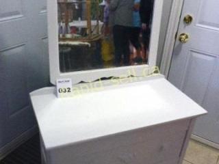 White Dresser & Mirror