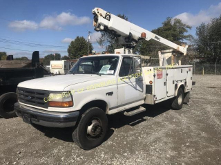 1997 FORD F SUPERDUTY W/ 28' ALTEC AERIAL BUCKET U