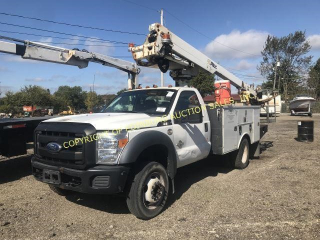 2012 FORD F-550 W/ 35' ALTEC AERIAL UNIT