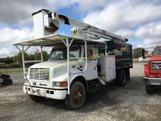 2001 INTERNATIONAL 4700 W/ TEREX 55' HI RANGER XT5