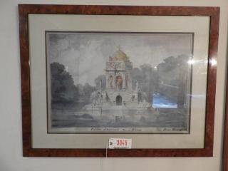 Framed print of Pavilion d Agrement (30? x 36
