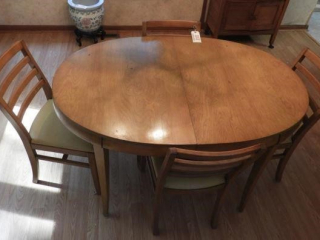 Wisconsin Chair Co. mid century blonde dining