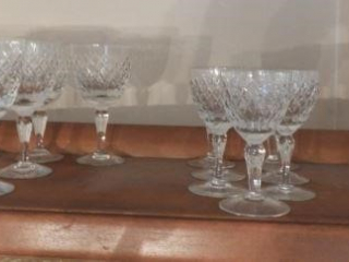(18) Waterford cut crystal stems: (7) red wines,