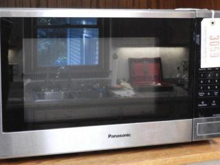 Panasonic stainless microwave