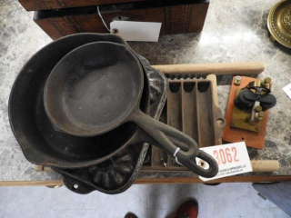 Primitives lot: child?s wooden and galvanized