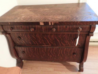 Antique Empire Oak four drawer chest of drawers