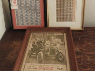 (2) framed collections of 2 cent and 3 cent