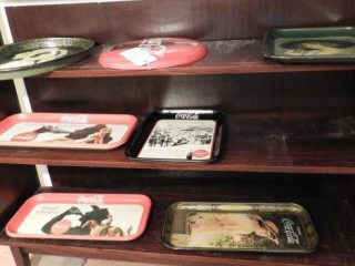 (6) Coca-Cola reproduction serving trays and