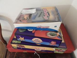 Vintage Erector set and small Qty of board games