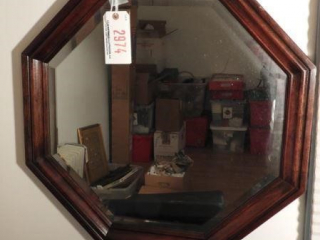 Octagon beveled glass wall mirror