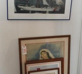 (5) Framed American Red Cross prints and one