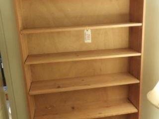 Contemporary Pine seven tier bookcase/ storage