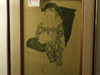 Framed Oil on canvas portrait of child