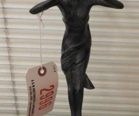 Vintage Pot metal fairy statuette 13? unsigned