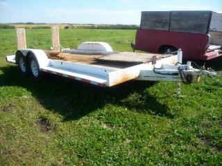 1990 Flat Deck Tandem trailer