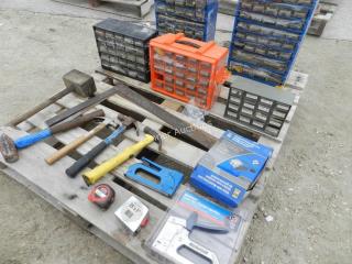Sorting Kits & Hardware, Hammers, Squares,