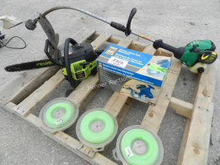 Weed Eater Trimmer, Poulan Chain Saw