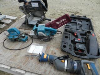 Mitre Saw, Circular Saw, Sawsall, Sanders, Drill