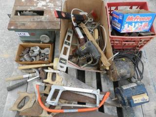 Saws, Drills, Hammers, Levels, Motors