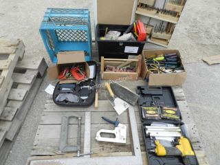 Staplers, Clamps, Squares, Screw Drivers, Misc