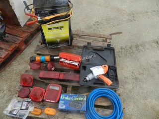 200AMP Battery Charger, Impact Wrench, Air Hose,