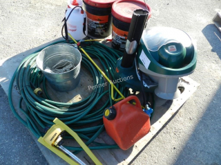 Garden Hose, Sprinkler, Driveway Sealer,