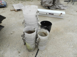 (4) Plastic Section Discharge Spout for Augers