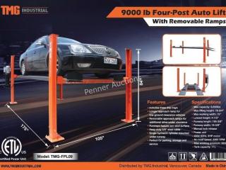 9,000 LB Heavy Duty Four Post Auto Lift