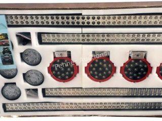 16- pc LED Light Bar Set