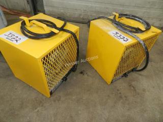 (2) 4800 Watt 240V Heaters