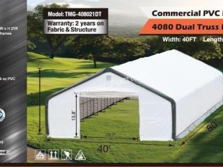 40Ft x 80Ft x 21Ft Dual Truss PVC Storage Building