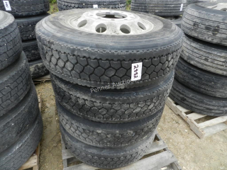 Assorted Truck Tires x4