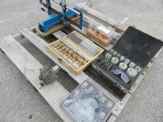 Palm Nailer, Hole Saw Kit, Mitre Saw, Router Bits