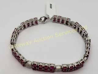Silver Ruby(13.4ct) Bracelet