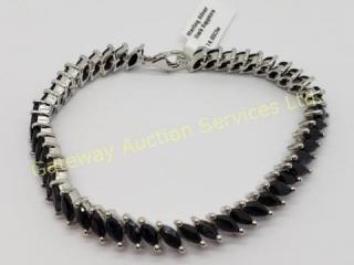 Silver Sapphire (Marquise Cut)(14ct) Bracelet