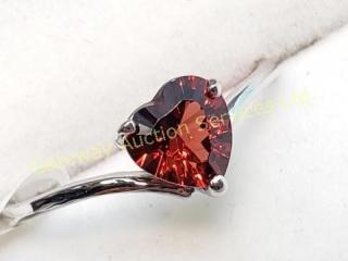 10K  Heart Shaped Garnet(1ct) Ring