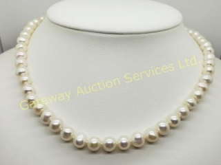 Fresh Water Pearl (6 - 6.5 Mm) 17 Inch Necklace
