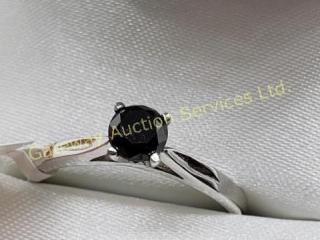 14K  Black Diamond(0.38ct) Ring