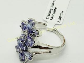 Silver Tanzanite(2ct) Ring
